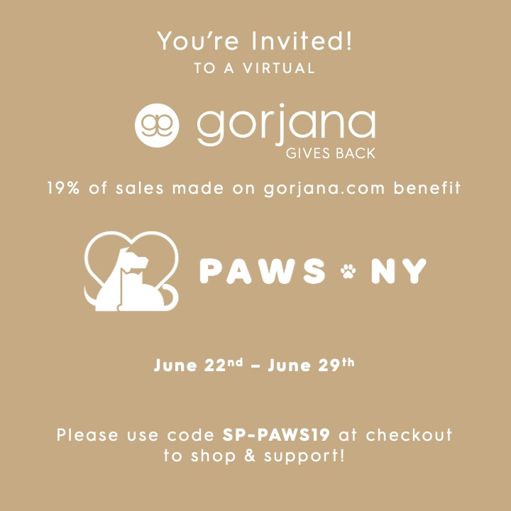Virtual gorjana Gives Back Event