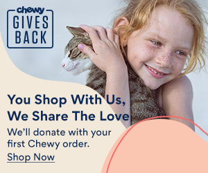 Shop at Chewy.com and they will donate to PAWS NY
